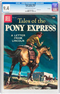 Silver Age (1956-1969):Western, Four Color #829 Tales of the Pony Express - File Copy (Dell, 1957) CGC NM 9.4 Cream to off-white pages....