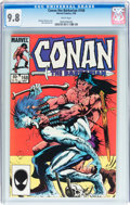Modern Age (1980-Present):Miscellaneous, Conan the Barbarian #168 (Marvel, 1985) CGC NM/MT 9.8 White pages....