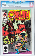 Modern Age (1980-Present):Miscellaneous, Conan the Barbarian #179 (Marvel, 1986) CGC NM/MT 9.8 White pages....