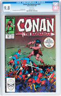 Modern Age (1980-Present):Miscellaneous, Conan the Barbarian #207 (Marvel, 1988) CGC NM/MT 9.8 White pages....