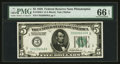 Small Size:Federal Reserve Notes, Fr. 1950-C $5 1928 Federal Reserve Note. PMG Gem Uncirculated 66 EPQ.. ...