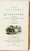 Books:Natural History Books & Prints, [Ralph Beilby] and T[homas] Bewick. A General History of Quadrupeds. The Figures Engraved on Wood by T. Bewick. Newc...