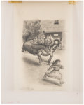 Books:Original Art, Drawing for Bread and Butter Journey by Anne Colver. Pencilon tracing paper. Signed by Williams. Measures 6...
