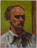 Books:Original Art, Painting, Self-Portrait. . Oil on canvas.. Measures 22.25 x17 inches. . Some areas where paint is c...