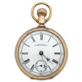 Timepieces:Pocket (post 1900), Waltham 14k Gold Crescent St. Model 83 Pocket Watch. ...