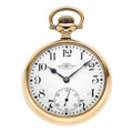 Timepieces:Pocket (post 1900), Ball 19 Jewel Open Face Pocket Watch. ...