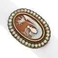 Estate Jewelry:Rings, Shell Cameo, Seed Pearl, Gold Ring. ...