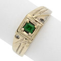 Estate Jewelry:Rings, Tsavorite Garnet, Topaz, White Gold Ring. ...