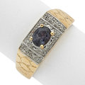 Estate Jewelry:Rings, Color Change Sapphire, Diamond, Gold Ring. ...
