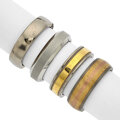 Estate Jewelry:Rings, Lot of Gentleman's Gold, Titanium, Stainless Steel Rings. ...(Total: 4 Items)