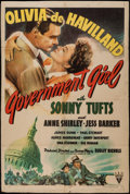 "Movie Posters:Comedy, Government Girl (RKO, 1943). Trimmed One Sheet (27"" X 40"").Comedy.. ..."