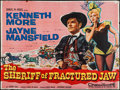 """Movie Posters:Comedy, The Sheriff of Fractured Jaw (20th Century Fox, 1959). British Quad(29.75"""" X 39.75""""). Comedy.. ..."""