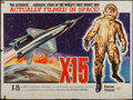 "Movie Posters:Adventure, X-15 (United Artists, 1961). British Quad (29.75"" X 39.75"").Adventure.. ..."