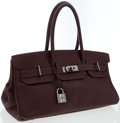 Luxury Accessories:Bags, Hermes 42cm Havane Clemence Leather JPG Shoulder Birkin I Bag withPalladium Hardware. ...