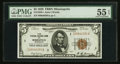 Fr. 1850-I $5 1929 Federal Reserve Bank Note. PMG About Uncirculated 55 EPQ