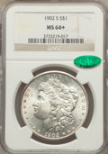 Morgan Dollars: , 1902-S $1 MS64+ NGC. CAC. NGC Census: (835/113). PCGS Population (1426/343). Mintage: 1,530,000. Numismedia Wsl. Price for ...