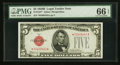 Small Size:Legal Tender Notes, Fr. 1527* $5 1928B Legal Tender Note. PMG Gem Uncirculated 66 EPQ.. ...