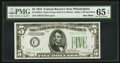 Small Size:Federal Reserve Notes, Fr. 1956-C $5 1934 Dark Green Seal Federal Reserve Note. PMG Gem Uncirculated 65 EPQ.. ...