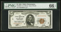 Small Size:Federal Reserve Bank Notes, Fr. 1850-C $5 1929 Federal Reserve Bank Note. PMG Gem Uncirculated 66 EPQ.. ...