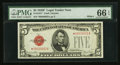 Small Size:Legal Tender Notes, Fr. 1531* $5 1928F Wide 1 Legal Tender Note. PMG Gem Uncirculated 66 EPQ.. ...