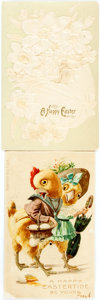 Miscellaneous:Postcards, Pair of Vintage Novelty Easter Cards. Ca. early-20th century. Onedepicts a pair of chickens and has a mechanism by which, w...