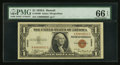 Small Size:World War II Emergency Notes, Fr. 2300 $1 1935A Hawaii Silver Certificate. PMG Gem Uncirculated66 EPQ.. ...