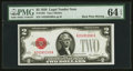 Fr. 1501 $2 1928 Legal Tender Note. Missing Back Plate Number. PMG Choice Uncirculated 64 EPQ
