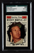Baseball Cards:Singles (1960-1969), 1961 Topps Mickey Mantle All Star #578 SGC 88 NM/MT 8....