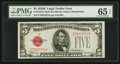 Small Size:Legal Tender Notes, Fr. 1527 $5 1928B Mule Legal Tender Note. PMG Gem Uncirculated 65 EPQ.. ...