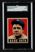 Baseball Cards:Singles (1940-1949), 1948 Leaf Babe Ruth #3 SGC Authentic. ...
