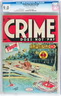 Golden Age (1938-1955):Crime, Crime Does Not Pay #48 (Lev Gleason, 1946) CGC VF/NM 9.0 Off-white to white pages....