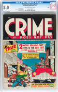 Golden Age (1938-1955):Crime, Crime Does Not Pay #44 Ohio pedigree (Lev Gleason, 1946) CGC VF 8.0 Off-white to white pages....