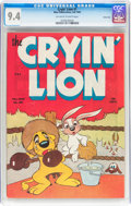 Golden Age (1938-1955):Funny Animal, Cryin' Lion Comics #1 Carson City pedigree (Wm. H. Wise & Co.,1944) CGC NM 9.4 Off-white to white pages....