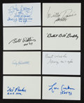 Football Collectibles:Others, Football Hall of Famers Signed Index Cards Lot of 21....