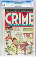 Golden Age (1938-1955):Crime, Crime Does Not Pay #55 Ohio pedigree (Lev Gleason, 1947) CGC VF/NM 9.0 Off-white to white pages....