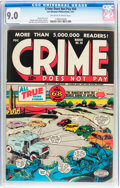 Golden Age (1938-1955):Crime, Crime Does Not Pay #50 (Lev Gleason, 1947) CGC VF/NM 9.0 Off-white to white pages....