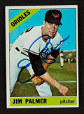 Autographs:Sports Cards, Signed 1966 Topps Jim Palmer #126. ...