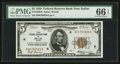 Small Size:Federal Reserve Bank Notes, Fr. 1850-K $5 1929 Federal Reserve Bank Note. PMG Gem Uncirculated 66 EPQ.. ...