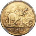 German East Africa, German East Africa: German Colony gold 15 Rupien 1916-T AU58NGC,...