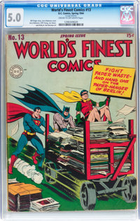 World's Finest Comics #13 (DC, 1944) CGC VG/FN 5.0 Cream to off-white pages