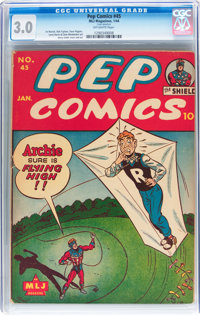 Pep Comics #45 (MLJ, 1944) CGC GD/VG 3.0 Off-white pages