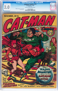 Catman Comics #15 (Holyoke/Continental, 1942) CGC GD 2.0 Cream to off-white pages