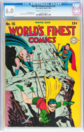 Golden Age (1938-1955):Superhero, World's Finest Comics #16 (DC, 1944) CGC FN 6.0 Cream to off-white pages....