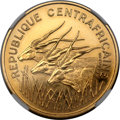 Central African Republic, Central African Republic: Republic gold Proof Essai 100 Francs 1971 PR65 NGC,...