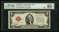 Small Size:Legal Tender Notes, Fr. 1505 $2 1928D Mule Legal Tender Note. PMG Gem Uncirculated 65 EPQ.. ...