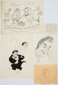 Books:Original Art, Fifty-Nine Caricatures of John Sebastian, the Father of the FamousMusician. All are either signed or initialed by William... (Total:59 Items)