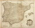 Books:Maps & Atlases, [Maps] R. W. Seale. A Map of the Kingdoms of Spain and Portugal. Map is from Nicolas Tindal's thirteen volume tr...