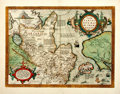 Books:Maps & Atlases, [Maps] Abraham Ortelius. Tartariae sive Magni Chami Regni.Ca. 1800s. A Nineteenth-century reproduction of the 1603 ...