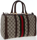 Luxury Accessories:Bags, Gucci Beige Monogram Canvas Bowling Bag. ...