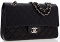 Luxury Accessories:Bags, Chanel Black Quilted Lambskin Leather Medium Double Flap Bag withSilver Hardware. ...